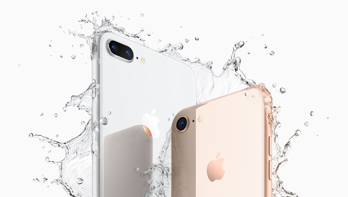 iPhone 8 and 8 Plus are water resistant
