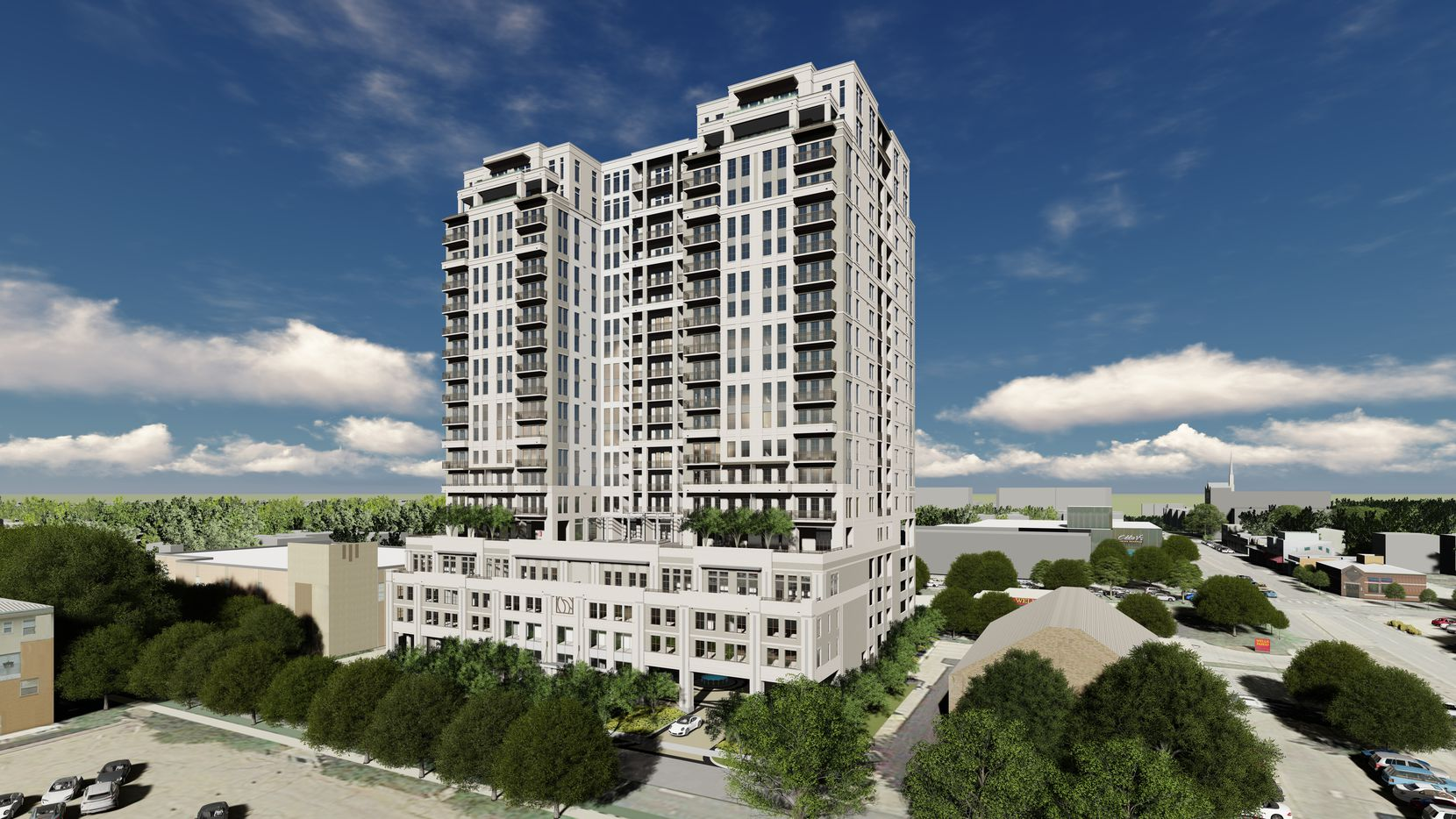 Crescent Communities' new Novel Turtle Creek high-rise is being built just south of Highland Park in Oak Lawn.