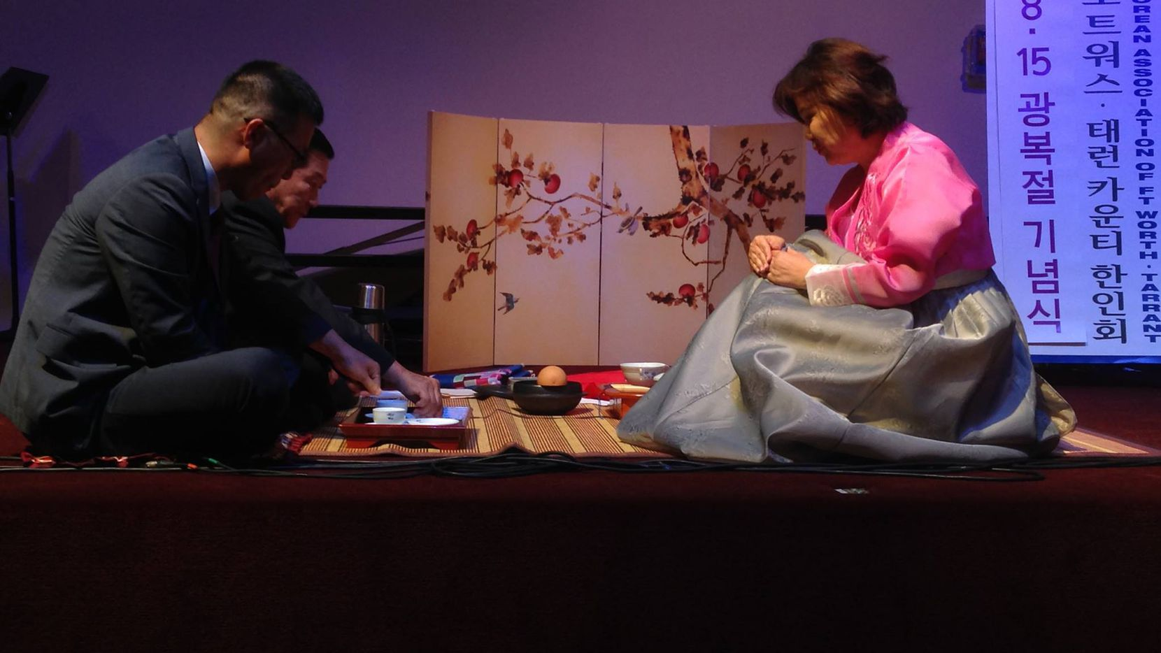 Nicole OConrad hosts a tea ceremony Aug. 15 to celebrate Korea's Independence Day.