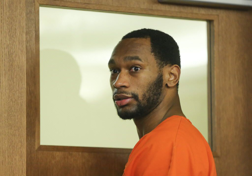 Former Dallas Cowboys running back Joseph Randle leaves a Sedgwick County courtroom.