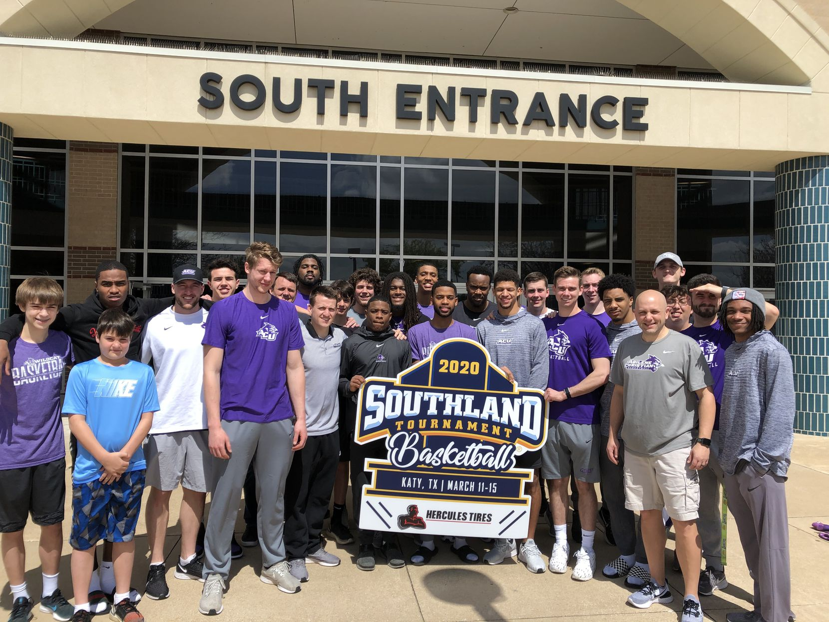 The Abilene Christian baseball team was 15-5 in the league last year. After the Southland Conference tournament was canceled on March 12, 2020, the team posed for a photo outside the arena.