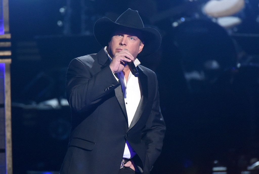 Garth Brooks performs at the 50th annual CMA Awards in Nashville, Tenn.
