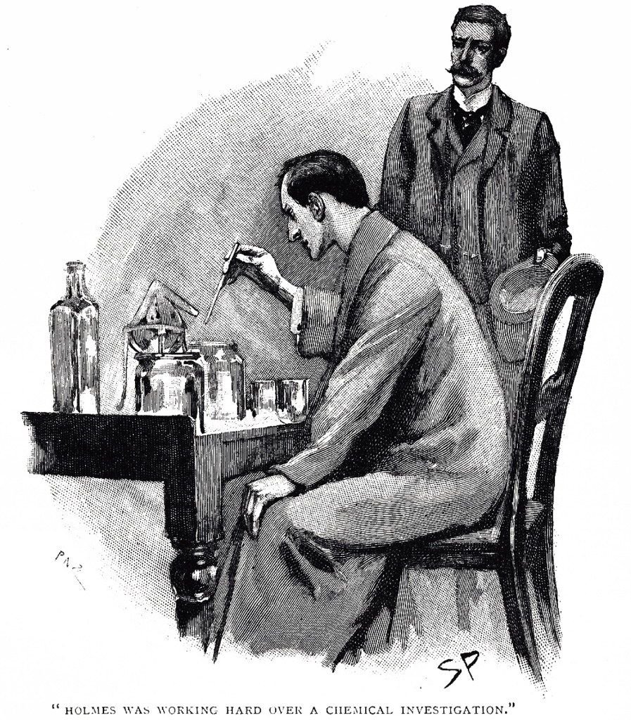 """Sidney Paget created iconic scenes of Sherlock Holmes for The Strand, such as in this scene from """"A Scandal in Bohemia."""""""