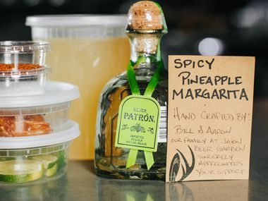 Spicy Pineapple Margarita cocktail kit from Jaxon Texas Kitchen and Beer Garden