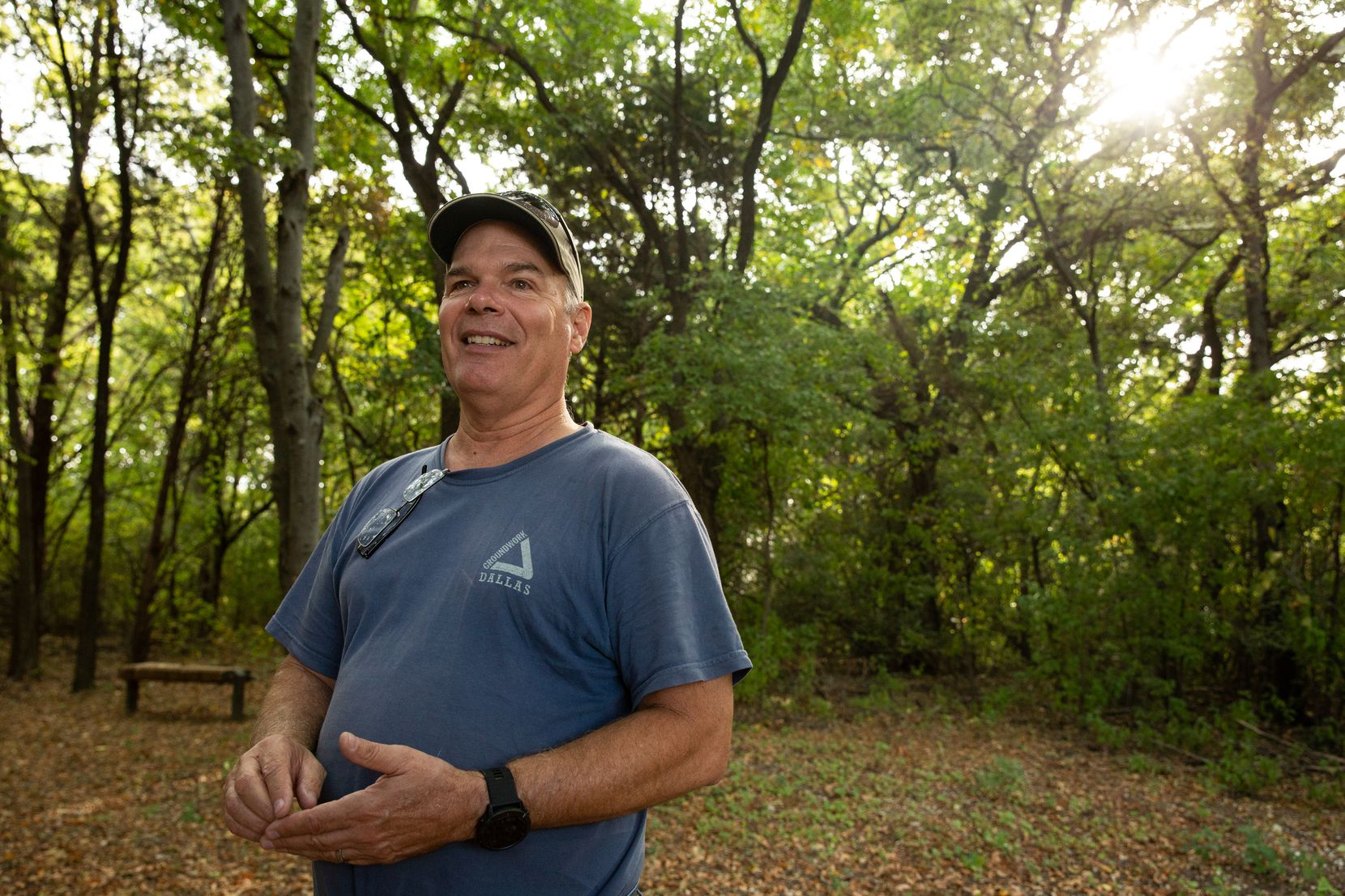 """Rick Buckley is executive director of Groundwork Dallas and, like all the nonprofit's staff, a """"boots-in-the-dirt"""" employee. Groundwork Dallas' mission is to develop recreation areas in the Trinity River corridor and to teach youth to become future stewards of the environment."""