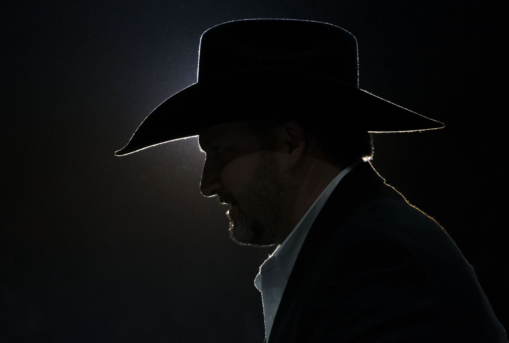 Rafe Nielsen, Browning's director of marketing and communications, during RFD-TV's The American rodeo at AT&T Stadium in Arlington on Sunday, March 3, 2019. He was part of the group who awarded the event winners their large checks.