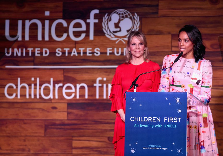 Jessica Nowitzki speaks at the UNICEF Children First Gala in April 2016 in Dallas. Dirk and Jessica Nowitzki will be honored with the Spirit of Compassion Award on Friday night at the sold-out UNICEF Gala Dallas at the Ritz-Carlton.