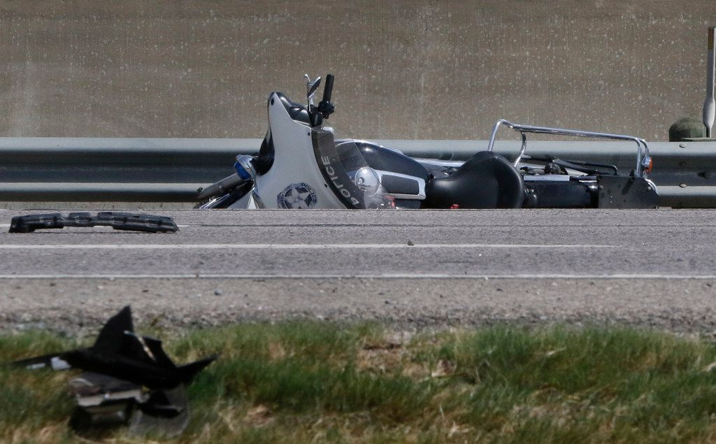 A Dallas police officer on a motorcycle was killed Saturday in a crash with an SUV on Interstate 20 near the Bonnie View Road exit around 6 a.m. Saturday morning in Dallas. The crash closed down the interstate for hours. The Dallas officer was transported to Baylor University Medical Center.
