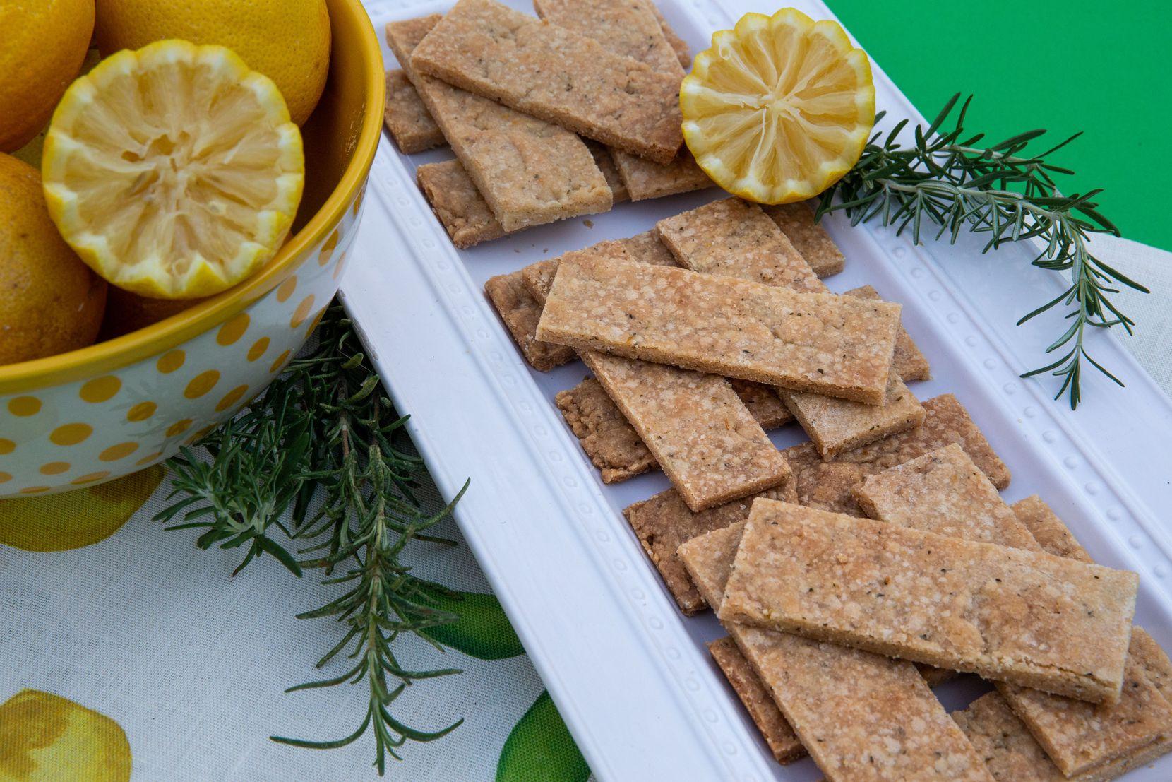 Rosemary Lemon Cookie Brittle