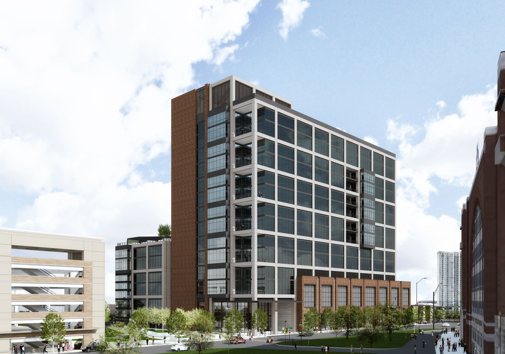Developer Hillwood is hunting tenants for a 15-story office building in Dallas' Victory Park..