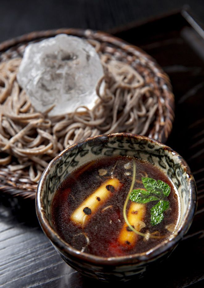Cold country soba with duck broth