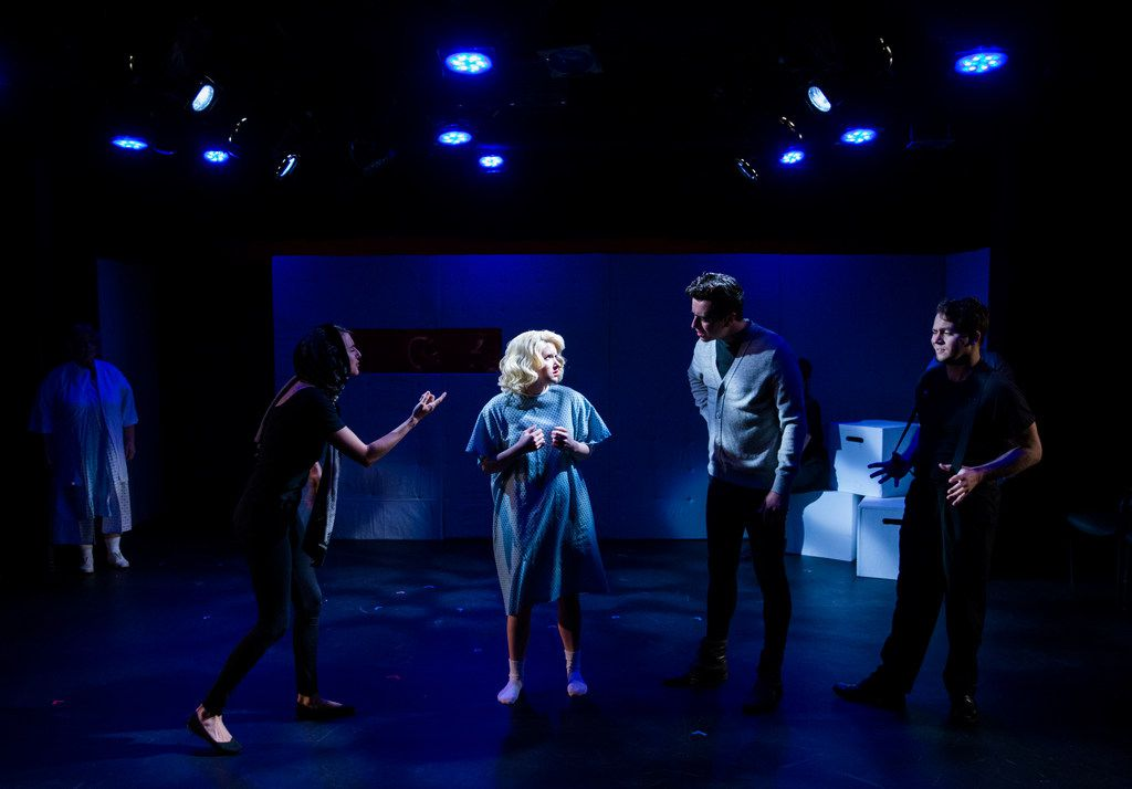 Marilyn Monroe (CC Weatherly) meets her ex-husbands and faces her demons in Lily & Joan theater company's production of Marilyn, Pursued by a Bear.