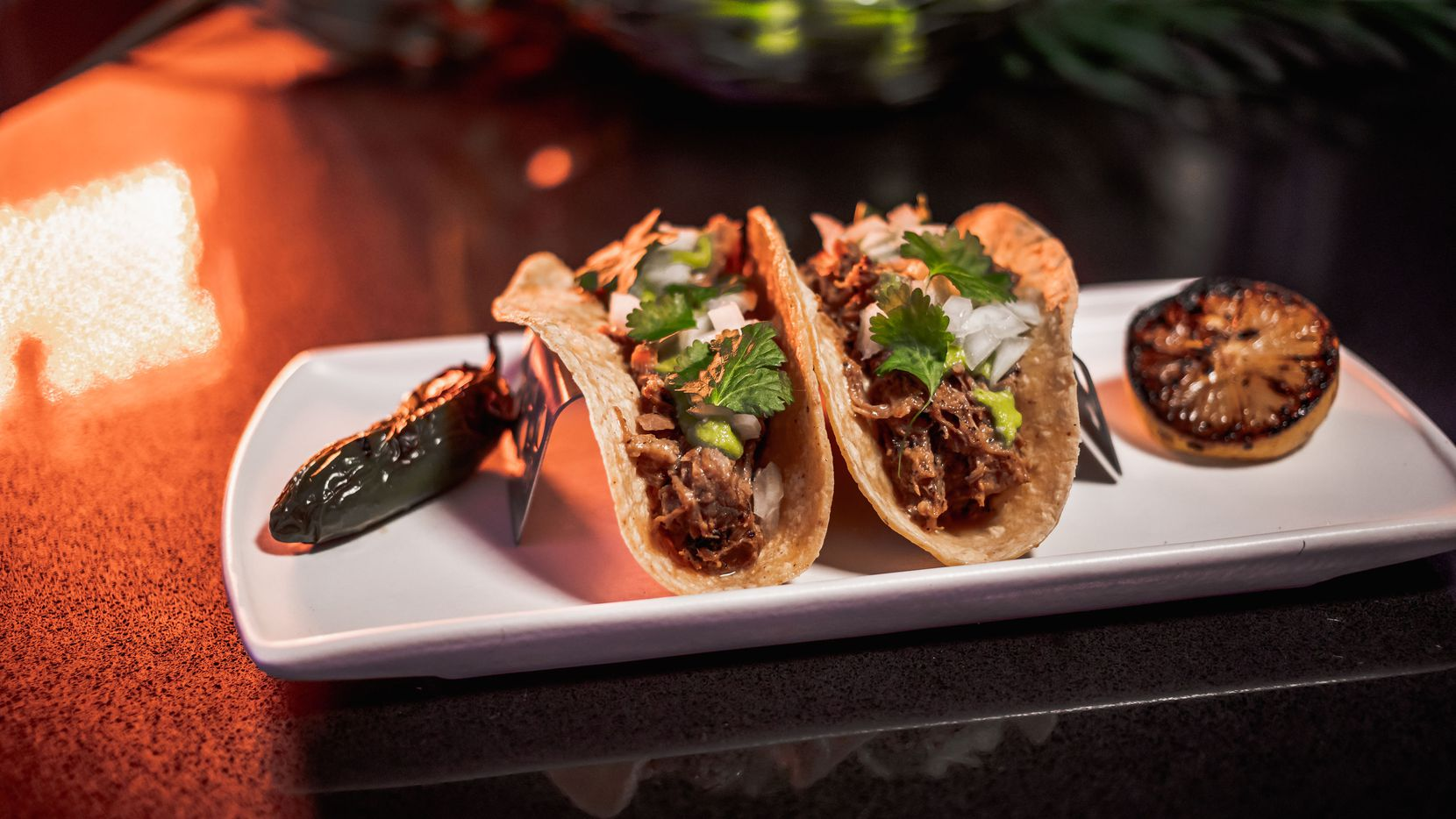 Chido Taco Lounge will sell carnitas tacos, one of owner Blaine McGowan's favorite dishes. The restaurant is expected to open March 12, 2021.