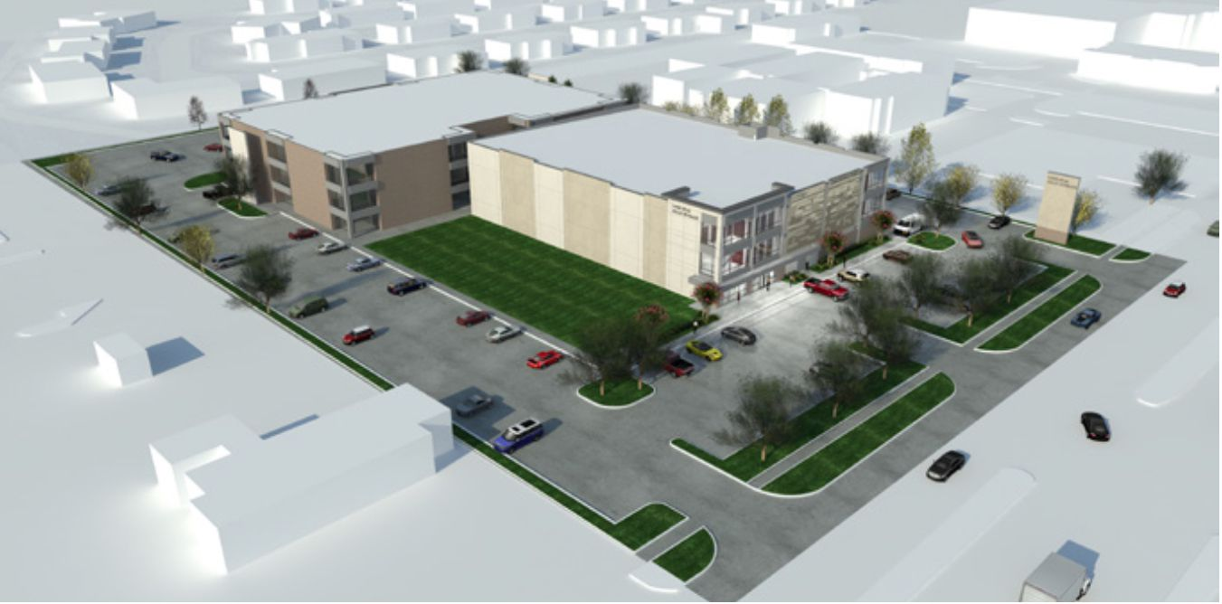 The redevelopment of the Park Forest complex on Forest Lane will include a new storage facility.