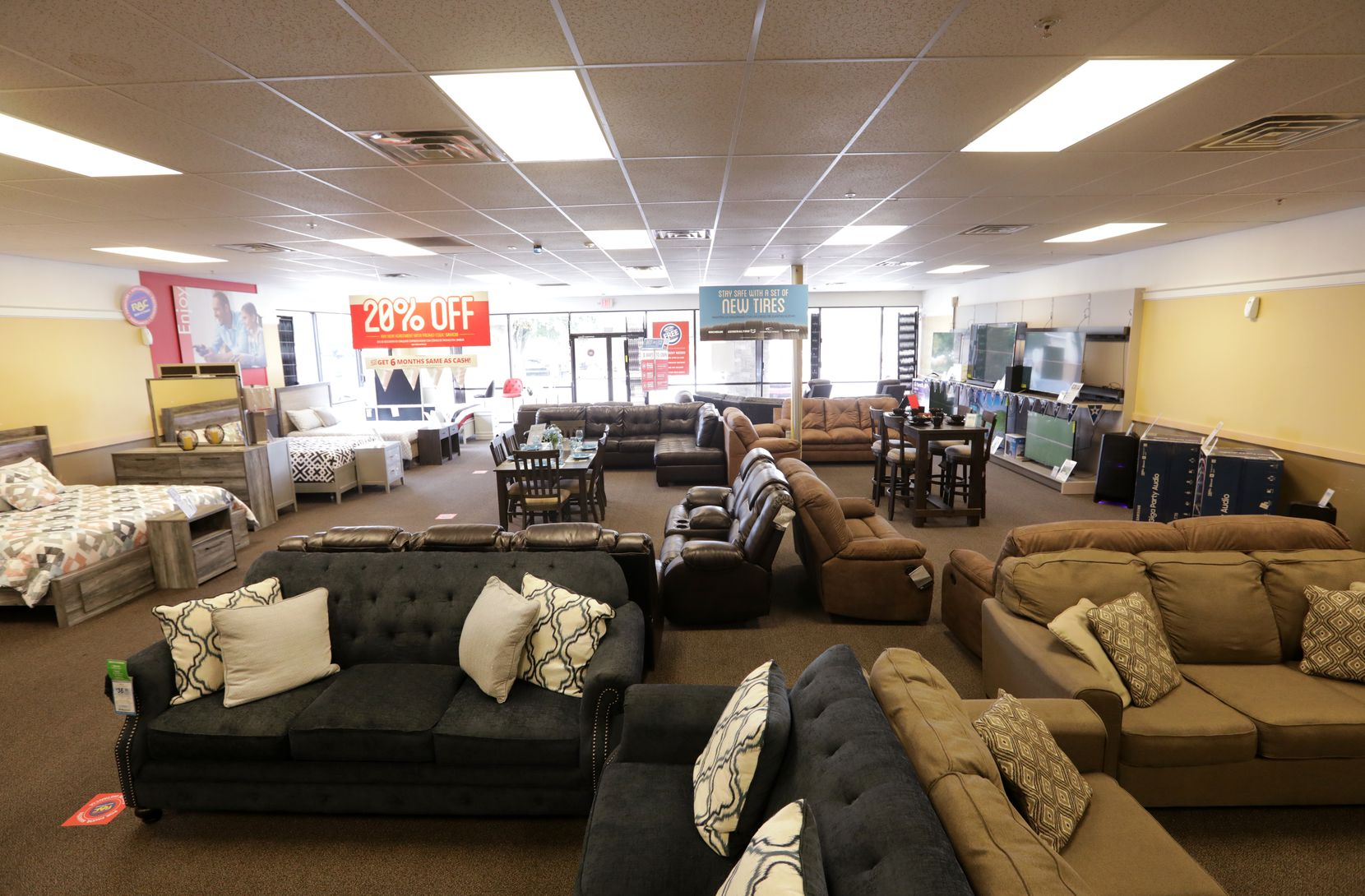 The showroom floor at a Rent-A-Center in Dallas on Tuesday.