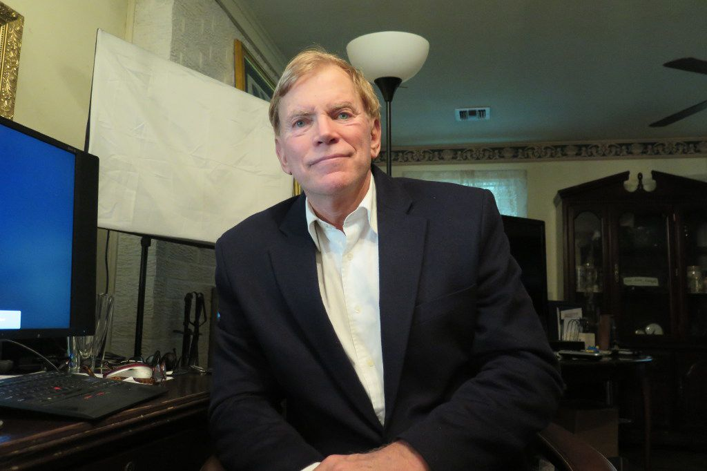 David Duke, the former Ku Klux Klan grand wizard, spoke about his admiration for Donald Trump and his own U.S. Senate campaign on Sept. 19 at his home in Mandeville, La. (Todd J. Gillman/Staff)