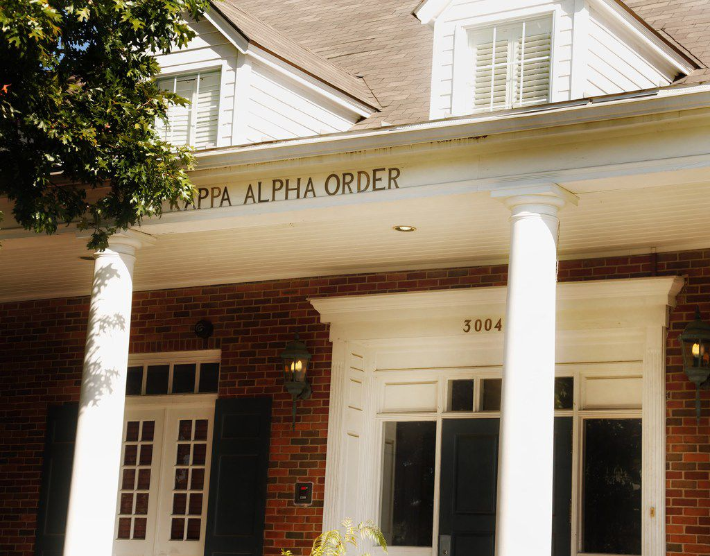 Exterior of the Kappa Alpha house at SMU campus in Dallas,Texas Thursday October 6, 2017.  The fraternity was recently suspended for hazing.