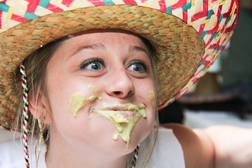 Shana Hagemeyer placed third in the Bob Armstrong dip eating contest at the Cinco De Mayo celebration at Mattitos in Oak Lawn on May 5.