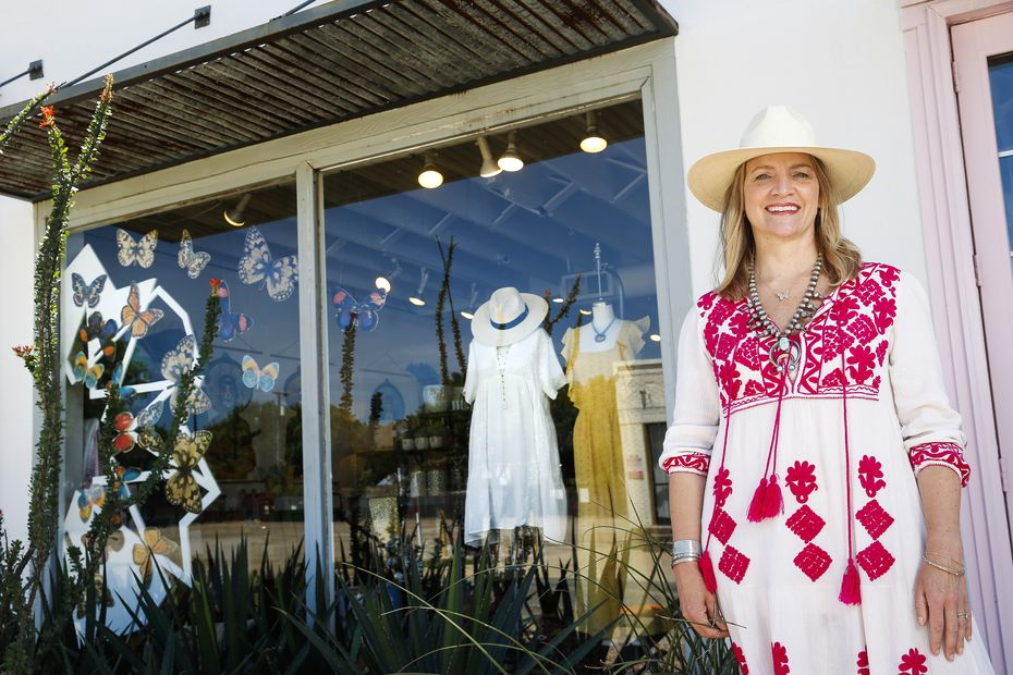 Owner Carley Seale poses at Favor The Kind store in Dallas. She and her staff added an online shop during the pandemic.