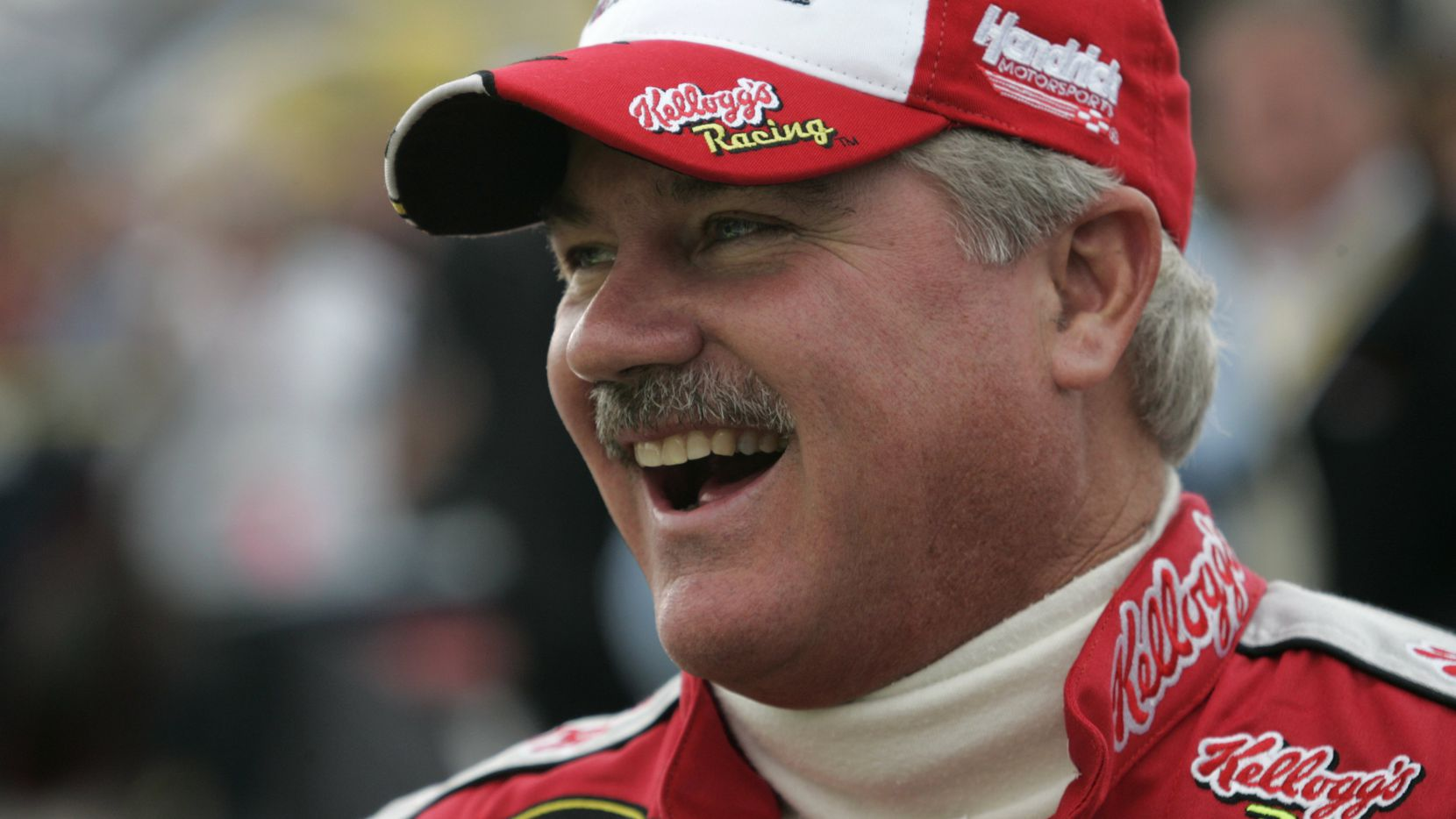 Terry Labonte laughs before the start of the Dickies 500 NASCAR Nextel Cup Series race at Texas Motor Speedway in Fort Worth, Texas on Sunday, November 5, 2006.