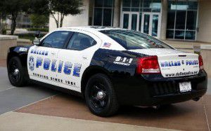 A Dallas Police Department Dodge Charger squad car (Lara Solt/The Dallas Morning News)