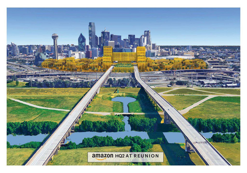 Hunt Realty Investments, the city of Dallas and A.H. Belo Corporation, the parent company of The Dallas Morning News, have put together a 50-acre site in downtown Dallas for Amazon HQ2.