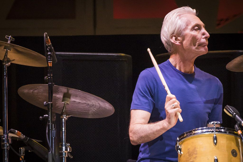 Rolling Stones drummer Charlie Watts on stage at AT&T Stadium in Arlington, June 6, 2015.