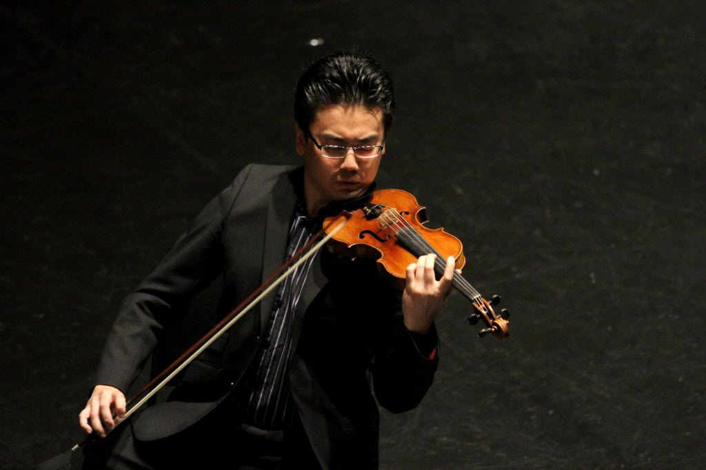 Violinist Jing Wang of Jing Wang and Friends  performed in 2013 at the Dallas City Performance Hall in Dallas. The concert was part of the 33rd Annual Basically Beethoven Festival.