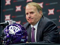 TCU head football coach Gary Patterson speaks during a press conference at Big 12 Media Day at Ford Center at The Star in Frisco, Texas, Monday, July 16, 2018.
