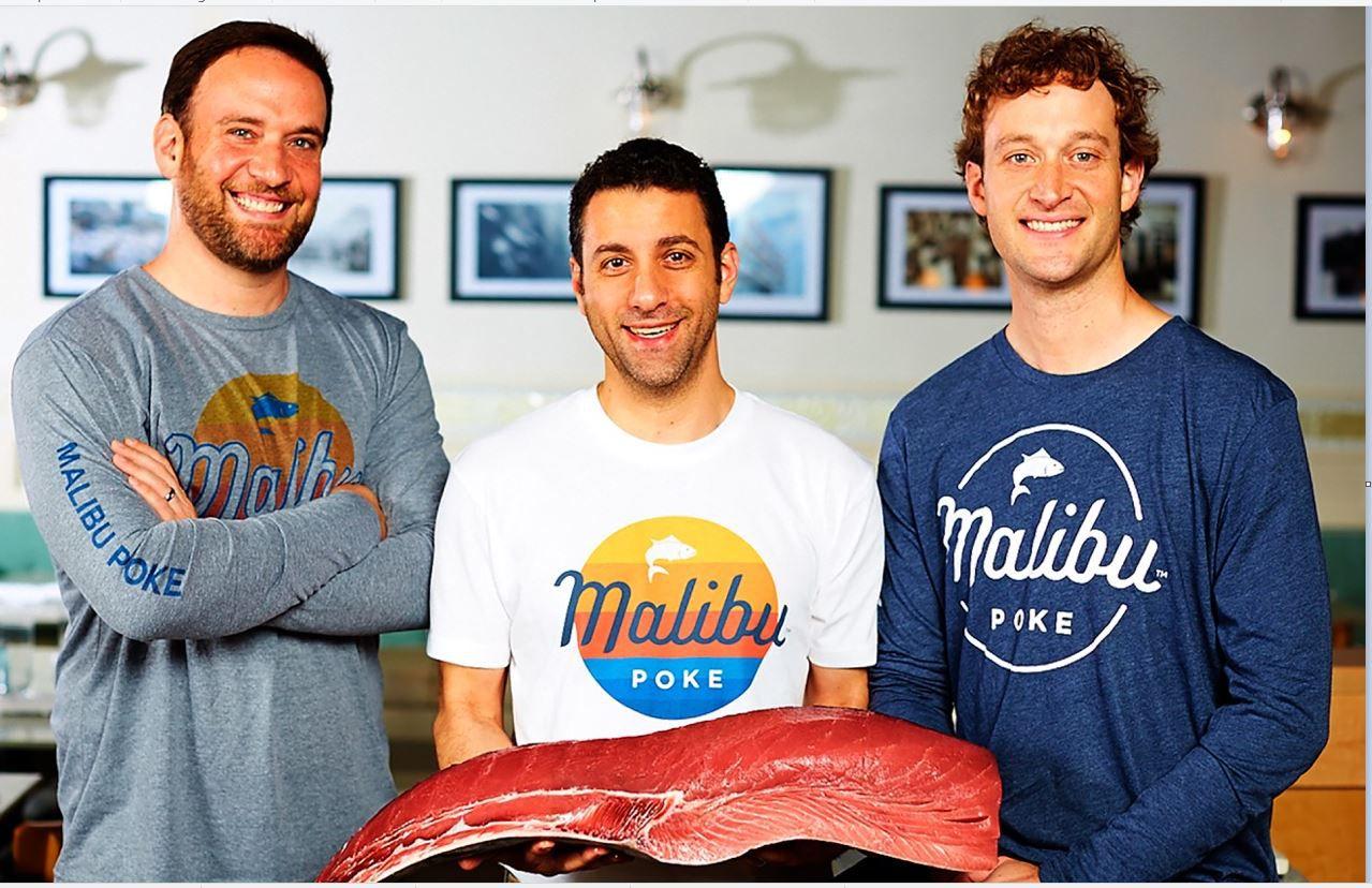 Ben Kusin, John Alexis and Eric Kusin will beam up to launch Malibu Poke
