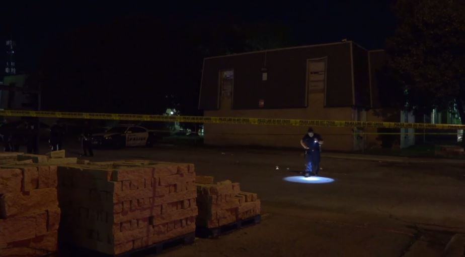 An image from the investigation scene taken from footage shot by Metro Video Dallas/Fort Worth.