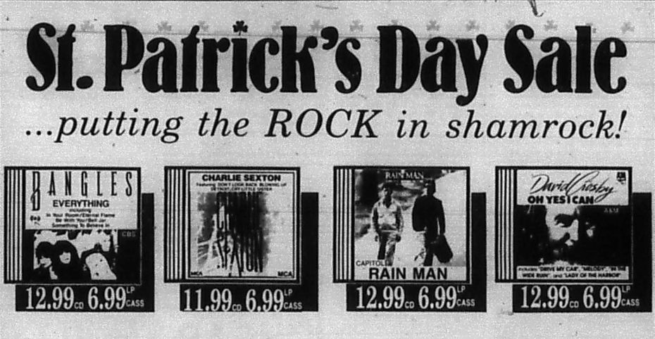 Ad that ran in The Dallas Morning News on March 17, 1989.