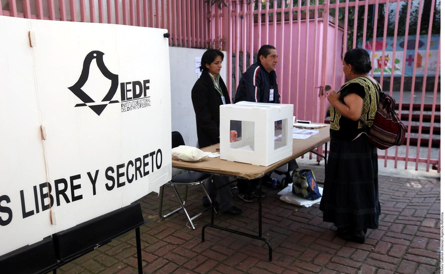 Una casilla de votación en la Ciudad de México.(AGENCIA REFORMA)