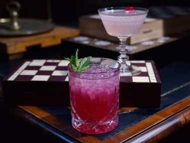 Settle in for a vibrant cocktail at the Botanist in the Bishop Arts District.
