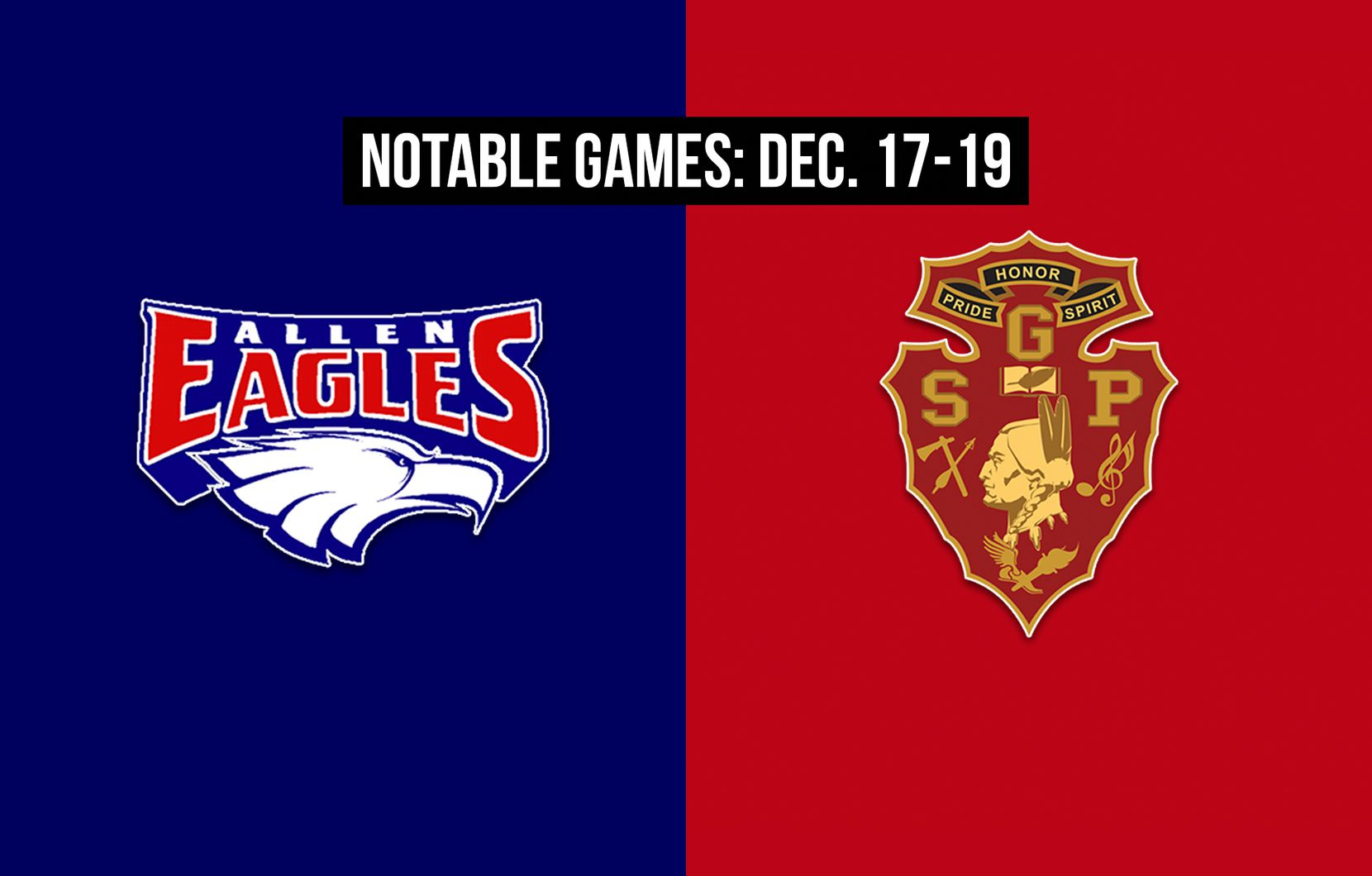 Notable games for the week of Dec. 17-19 of the 2020 season: Allen vs. South Grand Prairie.