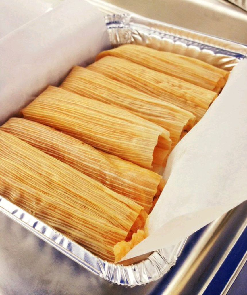 Tamales from Becerra's Tamales and Salsa at St. Michael's Farmers Market.