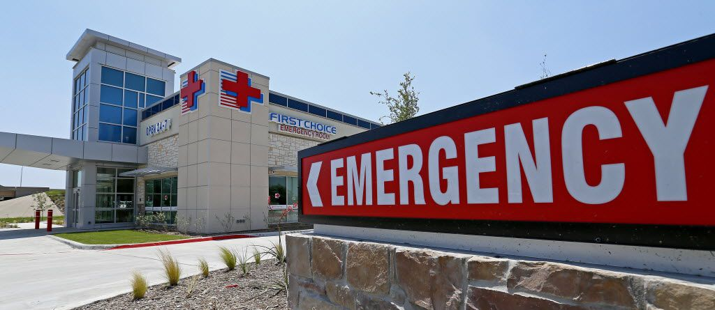 An exterior shot of the First Choice Emergency Room in Frisco, Texas, Wednesday, May 11, 2016. Several of their North Texas facilities were rebranded with the Texas Health Resources logo later in the year. (Jae S. Lee/The Dallas Morning News)