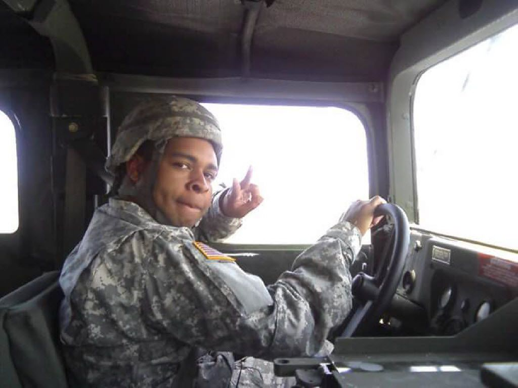 A soldier who served in the Army with Micah Johnson posted this photo of him on Facebook.