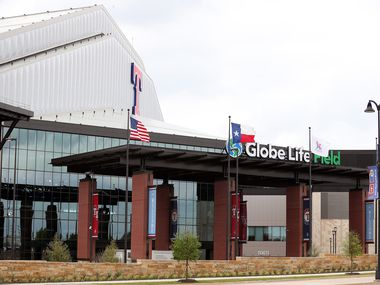 A view of Globe Life Field on March 18, 2020 in Arlington, Texas.