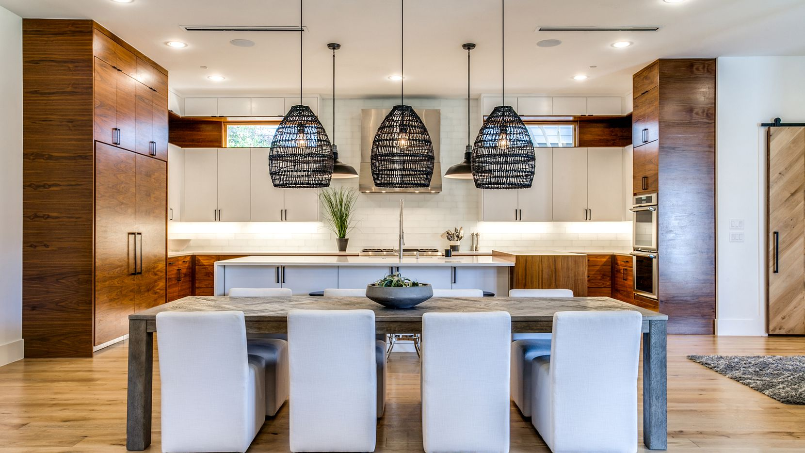 Completed in 2019, the home at 3233 Northwest Parkway in University Park is a custom transitional design.