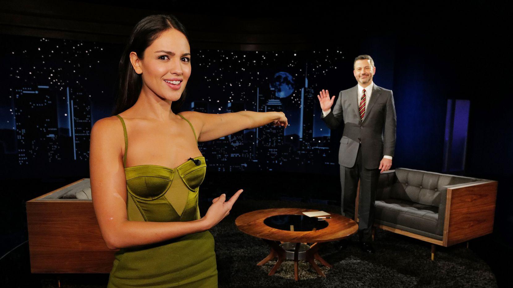 """La actriz Eiza González en """"Jimmy Kimmel Live!""""."""
