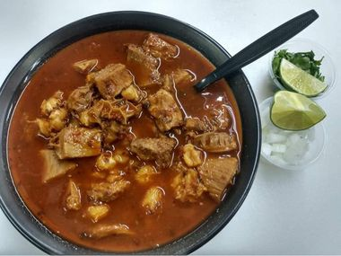 The menudo at Tacos, Tortas y Mas, served on Saturdays, always sells out.