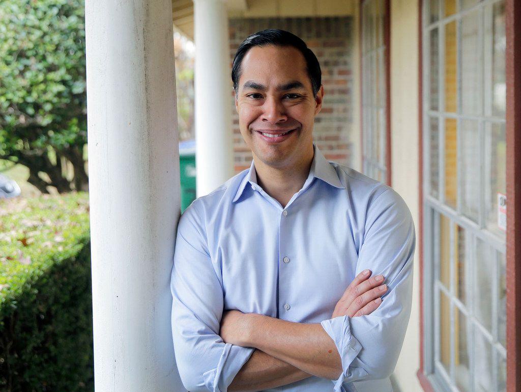 Democrat Julian Castro poses for a photo at his home in San Antonio, Tuesday, Dec. 11, 2018. (AP Photo/Eric Gay)