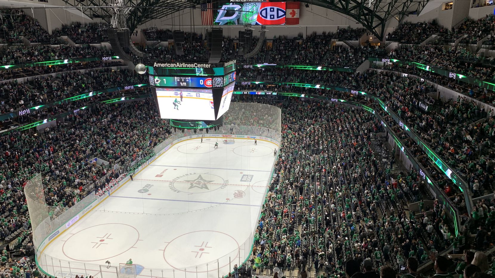 The Dallas Stars played the Montreal Canadiens at American Airlines Center on Nov. 2, the night Tyra Damm attended as part of a Teachers of the Year recognition.