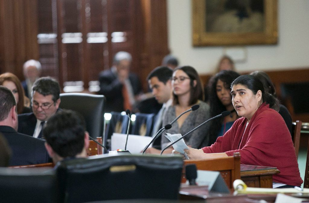 Sylvia Martinez of Austin testified against the bill.