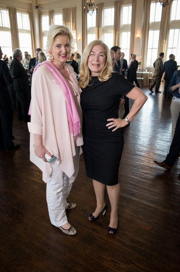 Bernadette Schaeffler, Candy Evans at Rockitecture 2014 at the Room on Main benefiting the Dallas Center for Architecture, May 1, 2014. Evans is trying to unseat Lee Kleinman in his north Dallas district (Photograph by Bruno/Special Contributor)