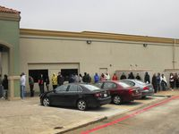 The Carrollton driver's license mega center is again seeing long lines similar to ones pictured in this 2018 file photo.