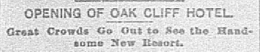 Headline published in The Dallas Morning News on July 11, 1890.
