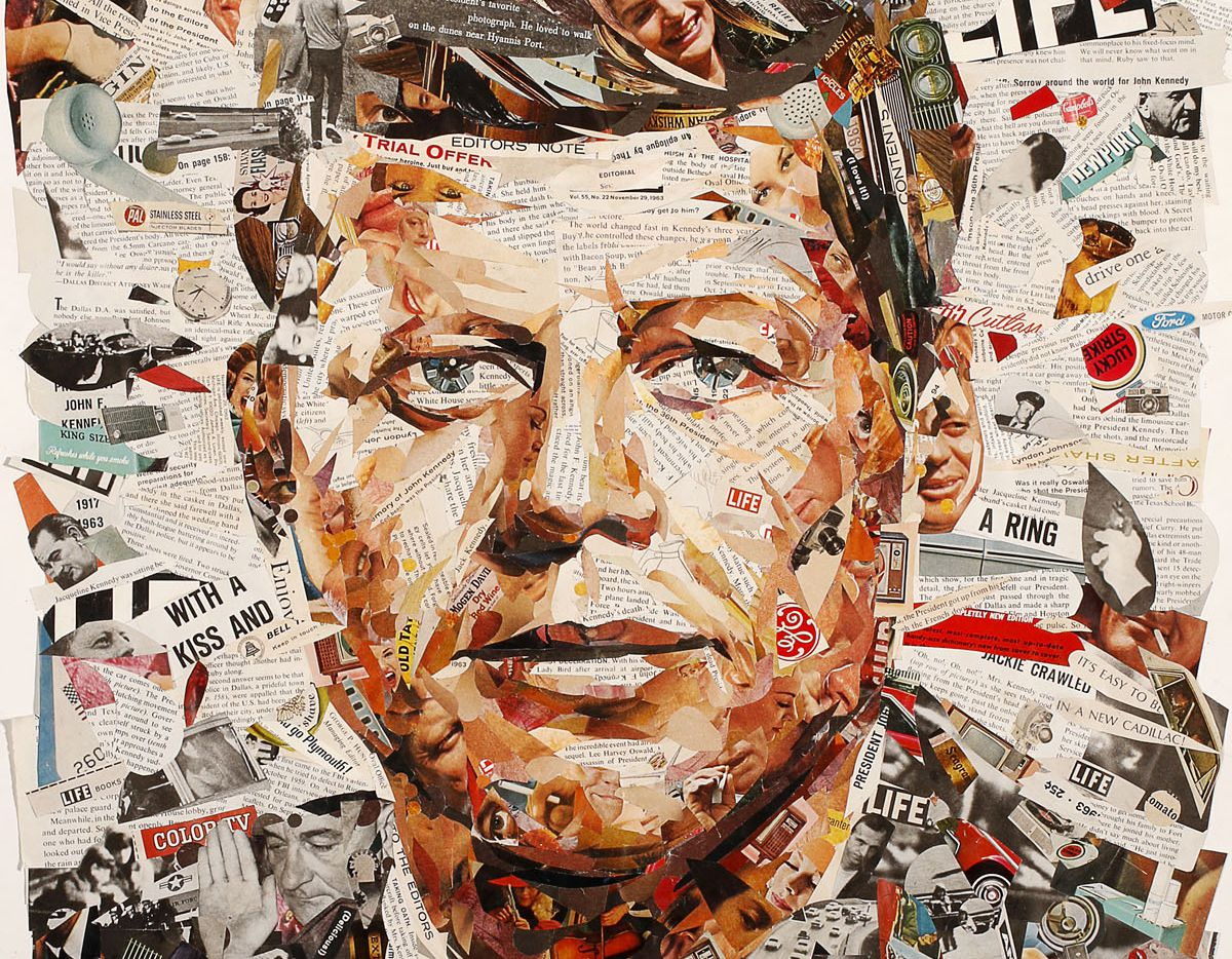 John F. Kennedy illustration by Michael Hogue