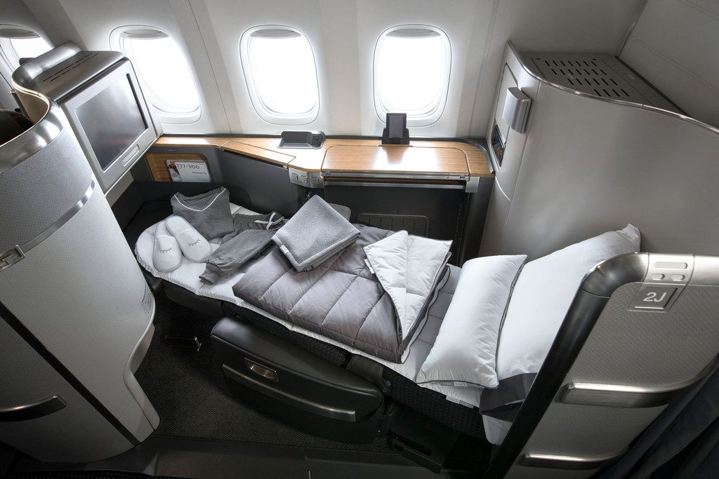 American Airlines will debut its new line of Casper bedding products on Dec. 5, the latest in a series of premium cabin upgrades targeted at high-value fliers. (American Airlines)